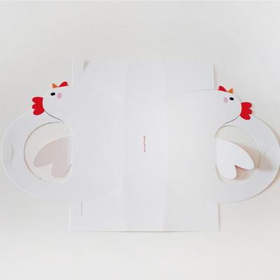 꼬꼬 윙 손잡이상자(10매) - 2구 계란포장상자