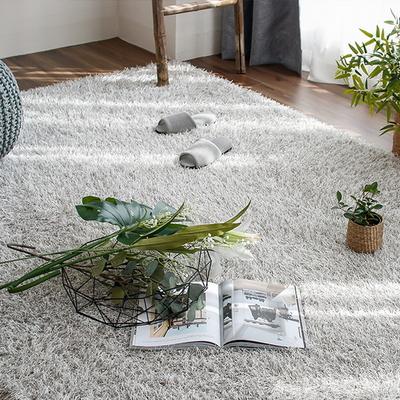 롱파일 포인트 가을 겨울 거실 샤기 장모 카페트 (200x300cm) (라이트 그레이)