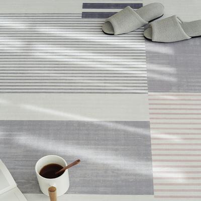 먼지없는 포인트 인테리어 대형 거실 러그 (200x290cm) (체크핑크)