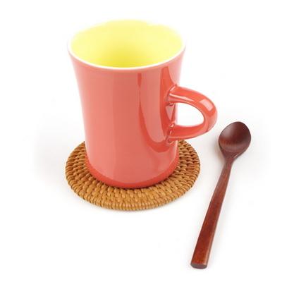 라탄 컵받침