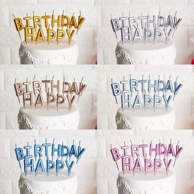 생일캔들 HAPPY BIRTHDAY 메탈릭 _partypang