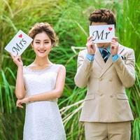 셀프웨딩촬영소품 Mr Mrs 화이트 _joyparty