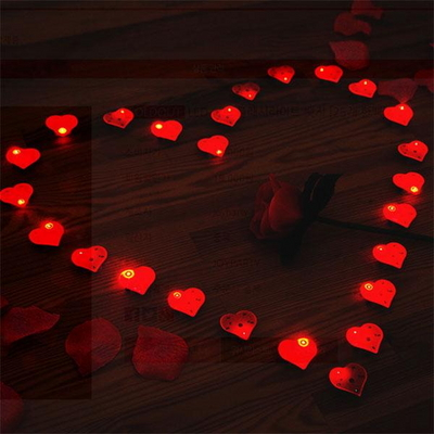 LED 플래시라이트 뱃지 하트 5개묶음 _partypang
