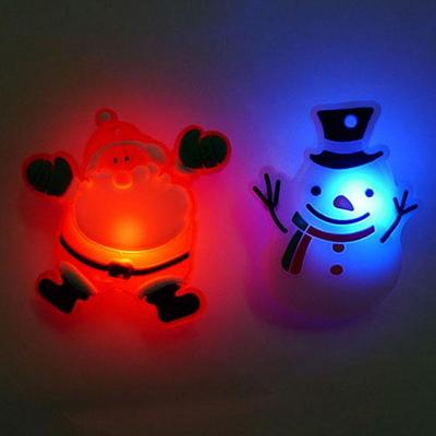 크리스마스 LED 플래시라이트 뱃지 5개묶음 _partypang