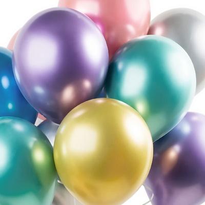 헬륨풍선효과 크롬벌룬 6색혼합 [50개묶음] _partypang