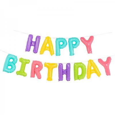 (원팩) 은박풍선세트 HAPPY BIRTHDAY 마카롱 _partypang