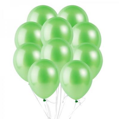 30cm 파티팡풍선 10입세트 펄 라이트그린 (풍선+컬링리본+양면테잎) _partypang