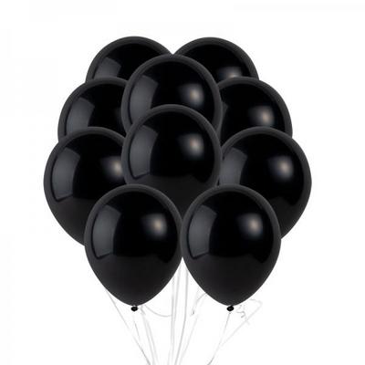 30cm 파티팡풍선 10입세트 블랙 (풍선+컬링리본+양면테잎) _partypang