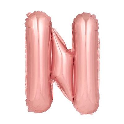 (원팩) 알파벳 은박풍선 중 로즈골드 N _partypang