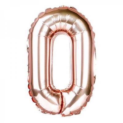 (원팩) 숫자 은박풍선 대 로즈골드 0 _partypang