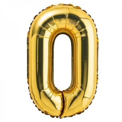 (원팩) 숫자 은박풍선 대 골드 0 _partypang