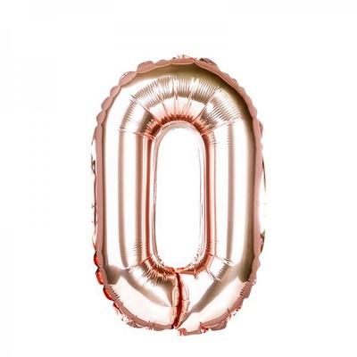 [원팩] 숫자 은박풍선 중 로즈골드 0 _partypang