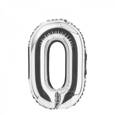 [원팩] 숫자 은박풍선 중 실버 0 _partypang