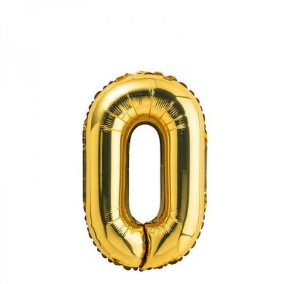 (원팩) 숫자 은박풍선 소 골드 0 _partypang