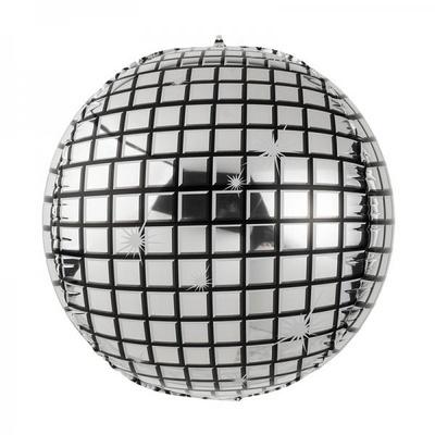 [원팩] 미러볼 은박풍선 20인치 [체크실버] _partypang