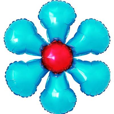 은박꽃풍선 50cm 라이트블루 _partypang