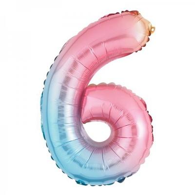 [원팩] 숫자 은박풍선 소 홀로그램 6 _partypang