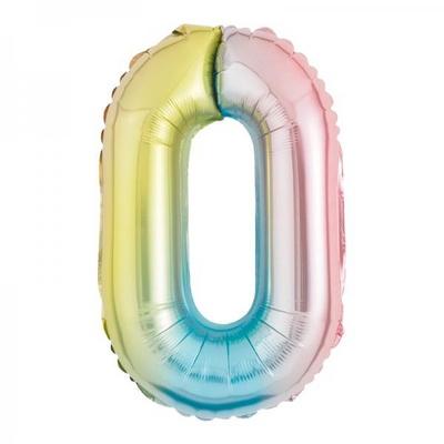 [원팩] 숫자 은박풍선 소 홀로그램 0 _partypang