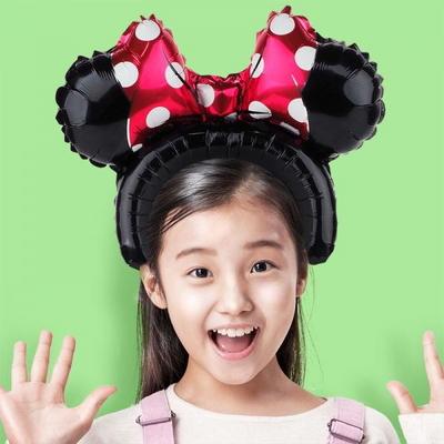은박풍선머리띠 미니마우스 레드 _partypang