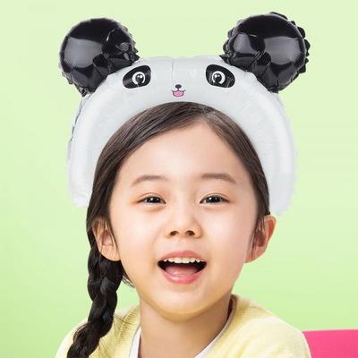 은박풍선머리띠 팬더 _partypang