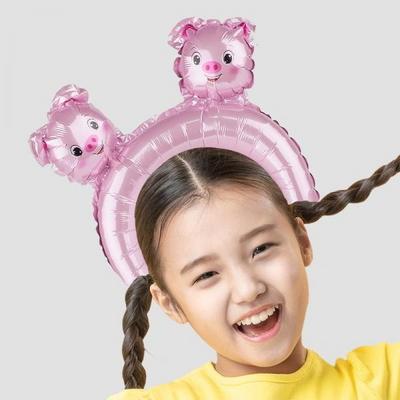 은박풍선머리띠 돼지 _partypang