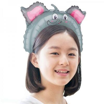 은박풍선머리띠 코끼리 _partypang