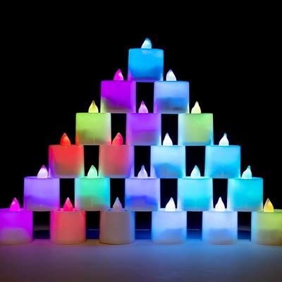 LED 티라이트 [칼라] 점멸형 24개입 _partypang