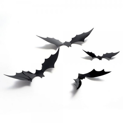 할로윈 PVC 3D 박쥐데코 12개세트 _partypang