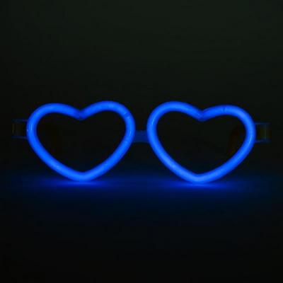 야광 하트안경 [블루] _partypang