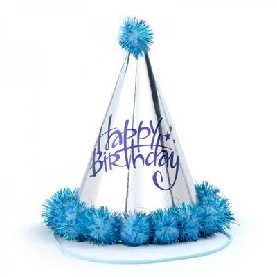 솜방울 생일고깔모자 [은박 블루] _partypang