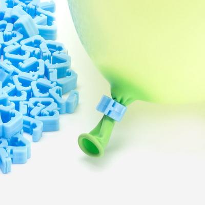 풍선 자동 묶음장치 100개입 [블루] (풍선쉽게묶기/풍선매듭클립) _partypang