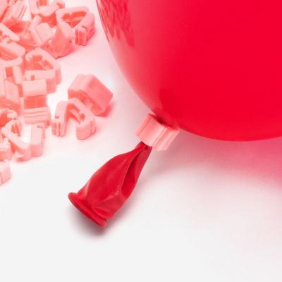 풍선 자동 묶음장치 100개입 [핑크] (풍선쉽게묶기/풍선매듭클립) _partypang