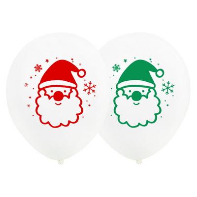 크리스마스풍선 30cm [스노우플레이크 인 산타 화이트] 10입 _partypang