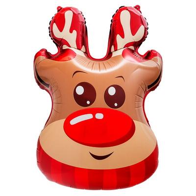 [원팩] 크리스마스 은박풍선 루돌프얼굴 48x71cm _partypang