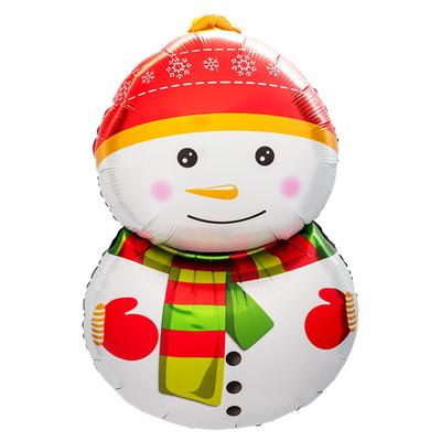 [원팩] 크리스마스 은박풍선 빨간모자눈사람 48x80cm _partypang