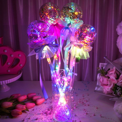 LED 클리어 요술봉 라운드 [색상랜덤] _partypang