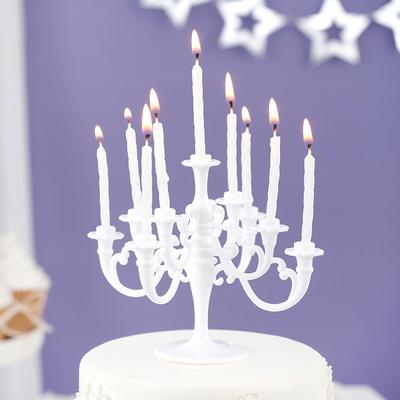 샹들리에 생일케익초 촛대&캔들 세트 [화이트] _partypang