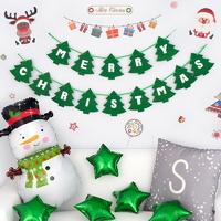 크리스마스 파티 장식세트 [월데코 스노우맨그린] _partypang