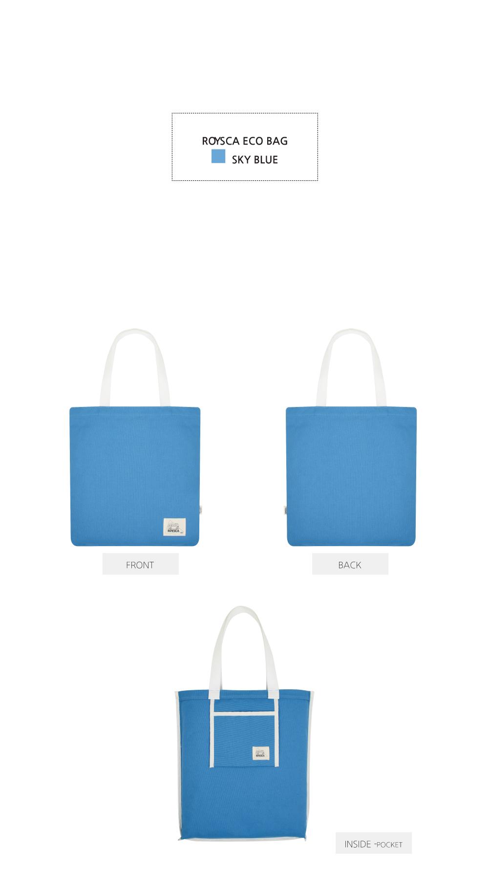 BASIC ECO BAG SKY BLUE - 로이스카, 12,900원, 캔버스/에코백, 에코백