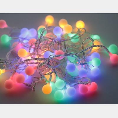 가랜드조명 캠핑 조명 카페 파티용 앵두전구 일광 줄램프 USB 긴줄 50알 컬러색