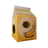 p)미스펫 우유팩 하우스 스크레쳐 (바나나우유)