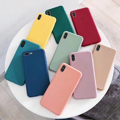 (아이폰) 슬림핏 컬러 실리콘 케이스