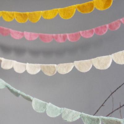 하프써클 가랜드 -4colors