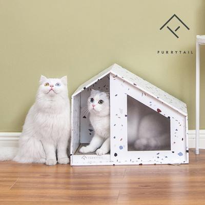 고양이 스크래처보드 하우스 숨숨집_중형