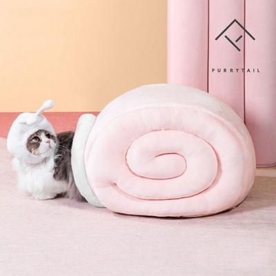 고양이 달팽이터널 숨숨집 하우스_핑크
