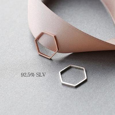 [실버] 모던 슬림 육각 반지