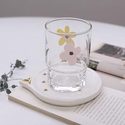 골드 고양이 컵받침 디저트접시