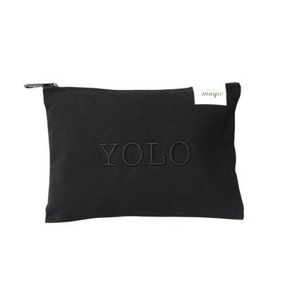 YOLO 자수 파우치 YOLO Pouch_ BLACK