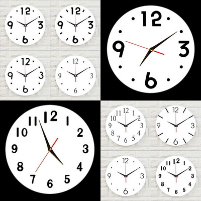 인테리어 아크릴 시계-CL0001 심플 무소음 벽시계