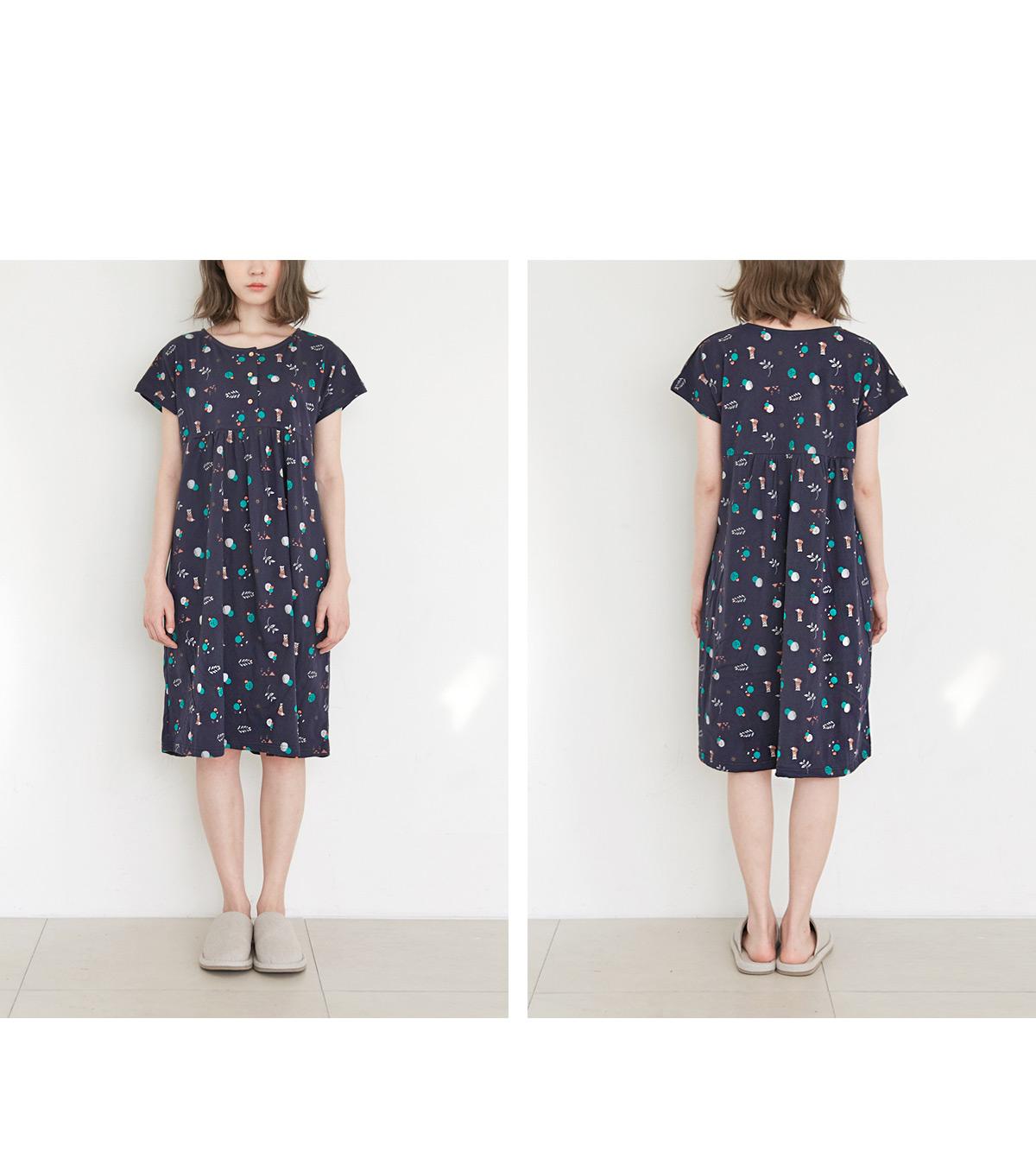 [여성홈웨어] 코니 순면 여름 원피스잠옷 - 바이메이비, 41,000원, 잠옷, 원피스잠옷